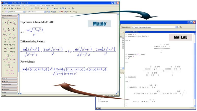 Symbolic Capabilities - Maple Toolbox for MATLAB® Features - Maplesoft